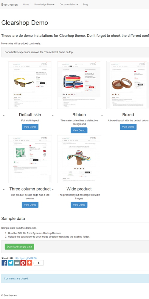 Clearshop Demo - Everthemes